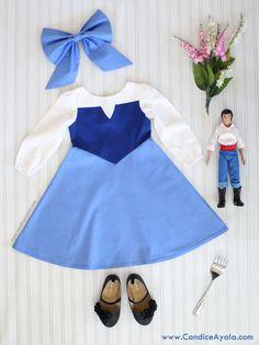 DIY Ariel's Blue Dress  - Ariel's Kiss the Girl Dress Mermaid Inspired