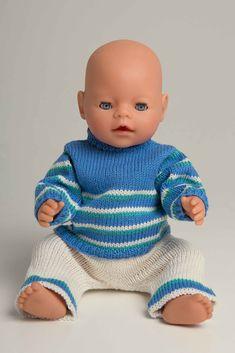 Viking Bjørk Genser og bukse Størrelse: Babyborn Overvidde: 36 cm Hel l. Baby Born Clothes, Girl Doll Clothes, Beautiful Children, Beautiful Dolls, Baby Born Kleidung, Knitting Dolls Clothes, Bear Doll, American Girl, Vikings