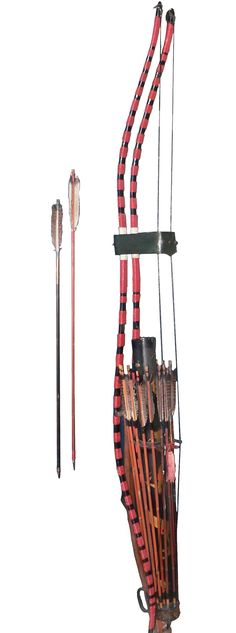 Yumi (弓?) is the Japanese term for bows, and includes the longer daikyū (大弓?) used in the practice of kyūdō, or Japanese archery. The yumi was an important weapon of the samurai warrior during the feudal period of Japan Katana, Yumi Bow, Larp, Armas Ninja, Archery Bows, Archery Set, Traditional Archery, Traditional Japanese, Archery Equipment