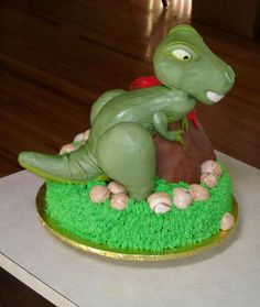 3D T Rex And Volcano Cake Dino Party Pinterest