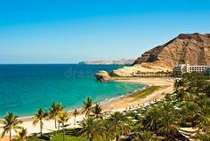 Beach resort in Oman. Image of a tropical beach resort hotel with beautiful land , Tropical Beach Resorts, Beach Hotels, Hotels And Resorts, Costa, Machu Picchu Tours, Public Golf Courses, Hawaii Honeymoon, Beach Bungalows, Most Beautiful Beaches