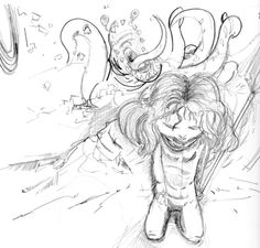 Meet Agnes... this is an early concept sketch.  comics