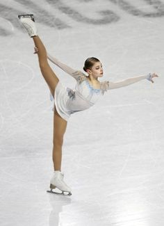 Russian figure skater Alena Kostornaia performs in the women's short program at the Junior Grand Prix Final in Vancouver, Canada, on Dec. (Kyodo) ==Kyodo (Photo by Kyodo News via Getty Images) Ice Skating, Figure Skating, Russian Figure Skater, Center Sport, Women Figure, Ladies Figure, Ice Girls, Dynamic Poses, Watercolor Fashion