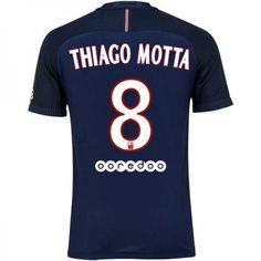 79257d3baa2 Paris Saint Germain PSG 16-17  Thiago Motta 8 Hjemmebanesæt Kort  ærmer,208