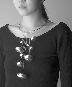 "Necklace | Sowon Joo. ""Fruition"". Sterling silver #contemporary #jewelry 3silver #necklace"