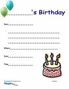 make birthday invitations