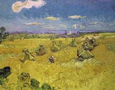 Vincent Van Gogh painting reproduction high quality Landscape oil painting canvas wheat stacks with reaper hand painted Artist Van Gogh, Van Gogh Art, Art Van, Vincent Van Gogh, Van Gogh Paintings, Paintings I Love, Van Gogh Pinturas, Van Gogh Landscapes, Amsterdam