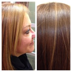 A Caramelizing Color, KeratimSmoothingTreamrnt, with a Haircut. By Ansara Walker