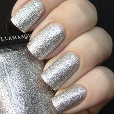 Nail Varnish In Harsh | Silver Glitter | Chip-Resistant | Illamasqua