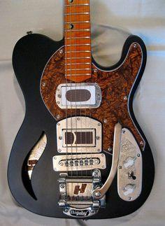 Harden Black Widow Broncobuster Music Guitar, Cool Guitar, Playing Guitar, Acoustic Guitar, Telecaster Thinline, Fender Telecaster, Guitar Rack, Custom Electric Guitars, Guitar Building