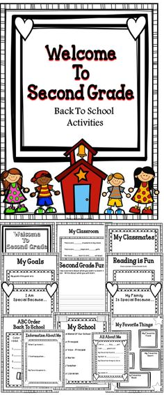 Back To School Activity Book - Welcome To Second Grade - A great activity book to use during the first week of school with your second grade students! #education #tpt