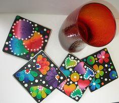 4 pieces Coaster set by klio1961, via Flickr