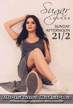 Afternoon Party με Christiana Katsirma @ Sugar Lounge στη Βέροια ! ! !