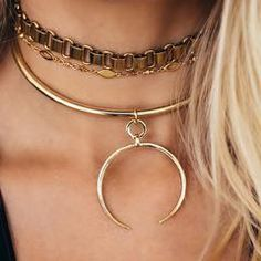 Crescent Collar in Gold (Pre-Order) - The Loupe www.shoptheloupe.com Necklaces, Luv Aj, The Loupe www.shoptheloupe.com - 2