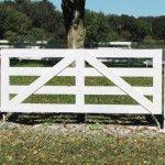 White Horse Fence Gate