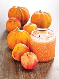 Couldn't resist pinning this scent twice! Peaches + Pumpkins