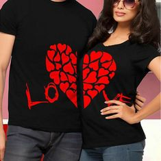 New Hot Valentine Shirts Woman Cotton LOVE Funny Letter Print Couples Leisure T-shirt heart graphic Short Sleeve tees cute tops Price: Valentine Shirts, Printed Shirts, Tee Shirts, Couple Outfits, Couple Clothes, Funny Letters, Love Shirt, Matching Couples, Matching Shirts