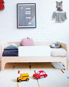 Oeuf Perch Toddler Bed (White / Birch) Single Bed