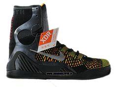 Kobe 9/IX Elite Chaussure Baskets2016 pour Homme Nike Officiel Noir - Gris - orange