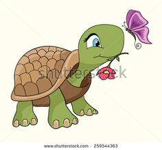 Cute turtle cartoon/Cartoon smiling green turtle character/Cartoon tortoise walking forward with a slow, steady gait/T-shirt Graphics/illustration turtle/emotional postcard