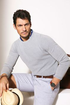 David Gandy for Massimo Dutti Spring 2013 Lookbook (III) ~ David James Gandy