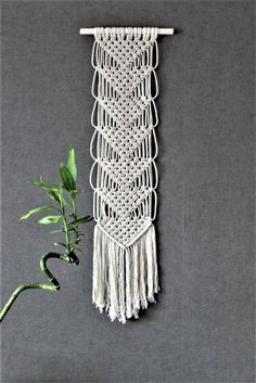 Macrame wall hanging, tapestry