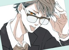 #Oikawa #hq // I hate how I love my men in glasses >3<