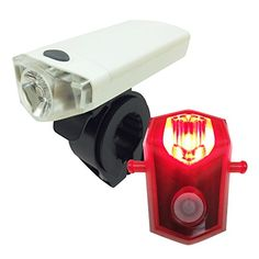 Bike Headlight-Taillight Combinations - Bike Light Set with High Power LED Headlight and Bright Tail light Yalumi Advanced Optical Quality Long Battery Life 1W 120 lumens AAA Batteries Included *** You can find more details by visiting the image link.