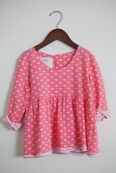 pink long sleeve swing top