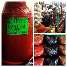 Classic recados (seasoning pastes) of Yucatan: achiote, negro, bistec. They give this cuisine such unique flavors.