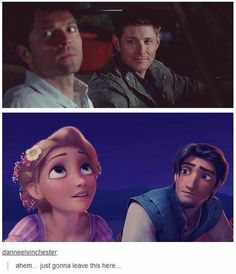 There IS NO difference. (Except that Dean's normally Rapunzel because of the Huge Green Eyes.