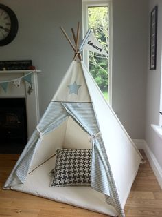 Play mat for child's teepee tent by MapleandSpudDesigns on Etsy