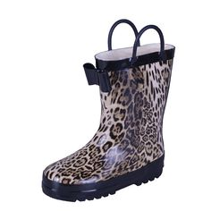 VICVIK Fashion Fur Leopard bowknot Rain Boots(Toddler/Little Kid/Big Kid/Boy) (29). Polyvinyl Chloride. Shaft measures approximately 7.28 inch rom arch. Waterproof rain boot helps keep the water out and keeps toes dry. Textile lining keeps your feet warm in the boots. For extra warmth make sure you check out our fleece liners. Fun and bright prints to brighten up any day. It even lights -up with every step.