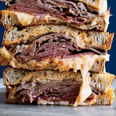 NYC Melting Pot Reubens - Best Tailgating Burgers and Sandwiches - Cooking Light Grilled Sandwich Recipe, Beef Sandwich, Soup And Sandwich, Sandwich Recipes, Sandwich Board, The Melting Pot, Melting Pot Recipes, Fondue Restaurant, Nutrition Education