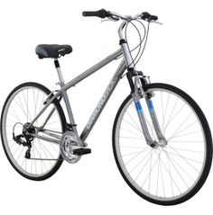 The Diamondback® Adult Kalamar Hybrid Bike is a versatile style, perfect for everyday riding or when you decide to venture off the roads. Features a Hi-Ten steel frame with Sport Hybrid Geometry, delivering an upright position and worry-free durability. The ultra-comfort spring saddle and front suspension offers lasting comfort all day long.