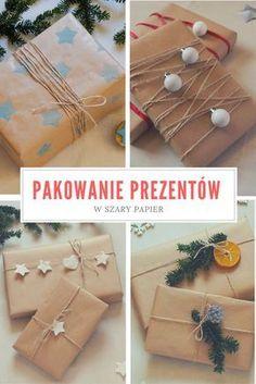 Pakowanie prezentów w szary papier - pomysły i inspiracje, bileciki i etykiety do prezentów // Gift wrapping, gift tags Origami Frog - kreatywny blog diy, zrób to sam Christmas Inspiration, Gift Wrapping, Wrapping Ideas, Christmas Diy, Diy And Crafts, Wraps, Presents, Homemade, Gifts