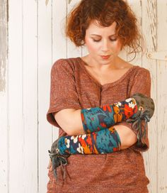 #Blue #mittens Floral gloves #Patchwork #gloves  Blue #armwarmers #Fingerless gloves #Bohemian gloves Driving gloves Floral #wristwarmers #fashion #accessories #gift.  via Etsy.  http://www.etsy.com/listing/112649131/blue-mittens-floral-gloves-patchwork
