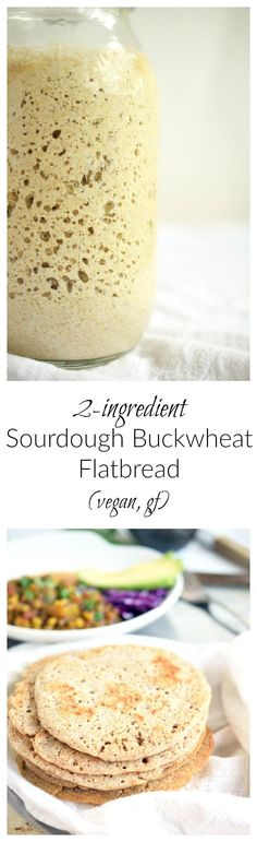 Sourdough Buckwheat Flatbread | One main ingredients, fermented, and then grilled to perfection. SIMPLE and DELICIOUS! Vegan and gluten-free! | simplytothrive.com