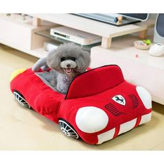 Cool Sports Car Shaped Pet Dog Bed House Small Dog Cat House Waterproof Warm Soft Puppy Sofa Kennel 3 Colors (red) * You can find out more details at the link of the image. (This is an affiliate link) Car Dog Bed, Dog House Bed, Yorkshire, Dog Beds For Small Dogs, Small Cat, Dog Pillow Bed, Bed Pillows, Sofa Bed, Bed Linens