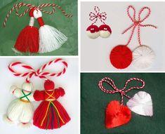 1 марта Tassel Necklace, Photo Wall, Drop Earrings, Christmas Ornaments, Holiday Decor, Crafts, Jewelry, Bricolage, Basteln