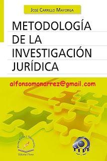 LIBROS EN DERECHO: METODOLOGÍA DE LA INVESTIGACIÓN JURÍDICA