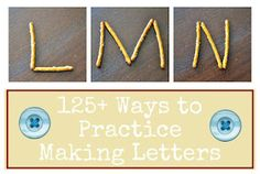 125+ Ways to Practice Making Lettersu