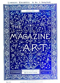 Printed Matter - Book Cover - Magazine of Art 1899 Illustration Art Nouveau, Graphic Design Illustration, Typography Inspiration, Typography Design, Vintage Typography, Book Cover Design, Book Design, Web Design, Printed Matter