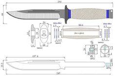 Чертеж ножа с размерами