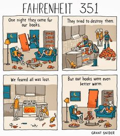 Fahrenheit 351, A Comic with a Twist on Ray Bradbury's 'Fahrenheit 451′
