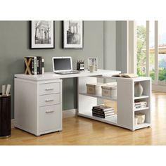 White Hollow Core Left Or Right Facing Corner Desk