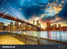 Amazing free wallapapers and backgrounds : Spectacular sunset city view in Manhattan, New Yor...