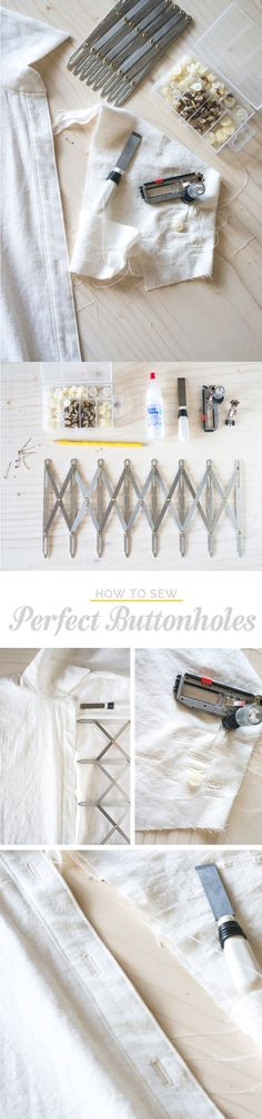 HOW TO SEW PERFECT BUTTONHOLES | Closet Case Files http://closetcasefiles.com/sew-perfect-buttonholes/