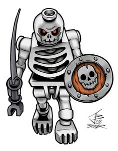 LEGO Skeleton Warriors | Lego - Skeleton Warrior with sword (Lego) - 2008