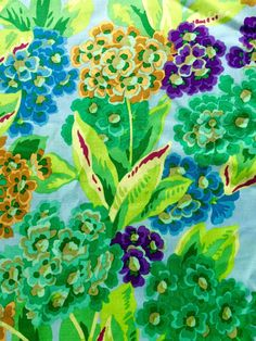 Philip Jacobs Fabric rare OOP Primula green by anotherghostquilts
